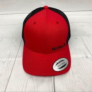 NWT Hurley Red/ Black SnapBack Hat